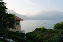 Lago Como nella sera Fotografia Stock Libera da Diritti