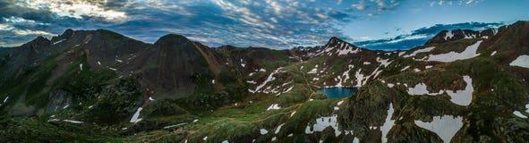 Lago Como - passagem de Poughkeepsie, San Juan Mountains fora do coordenador P fotografia de stock