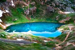 Lago Como - passagem de Poughkeepsie, San Juan Mountains fora do coordenador P imagens de stock royalty free
