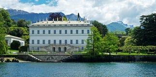 Lago Como villa Fotografia Stock Libera da Diritti