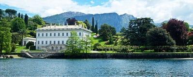 Lago Como villa Immagini Stock Libere da Diritti