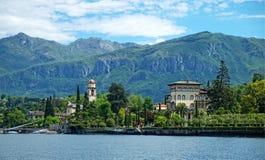 Lago Como villa Fotografía de archivo