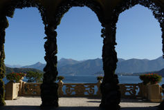 Lago Como - villa Balbianello Fotografia Stock