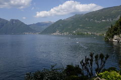 Lago Como, visión panorámica Imágenes de archivo libres de regalías