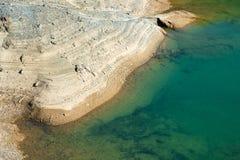 Lago con agua tóxica Fotos de archivo libres de regalías