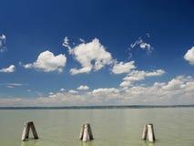 Lago con il cielo Immagini Stock