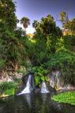 Lago con la cascada, Tenerife, islas canarias Imágenes de archivo libres de regalías