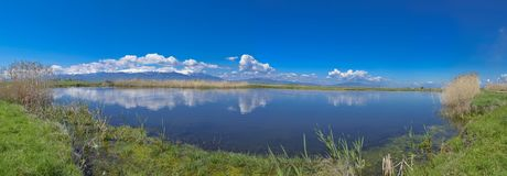 Lago con la riflessione - paesaggio di rilassamento immagine stock
