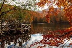 Lago con la riflessione in Yedigoller Immagini Stock