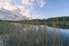 lago con le riflessioni dell'acqua nel effe variopinto dell'annata di giorno di autunno Immagine Stock