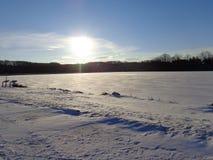 Lago congelado Foto de Stock Royalty Free