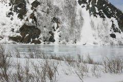 Lago congelado imagem de stock