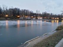Lago congelado Fotos de archivo