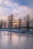 Lago congelado Imágenes de archivo libres de regalías
