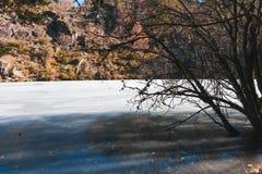 Lago congelado Foto de Stock