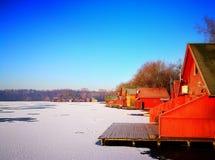 Lago congelado Foto de archivo libre de regalías