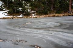 Lago congelado Fotografía de archivo libre de regalías
