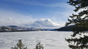 Lago congelado bc fotografia de stock royalty free