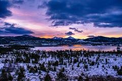 Lago congelado Breckenridge, Colorado fotografia de stock