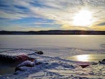 ¡Lago congelado de NWT! foto de archivo libre de regalías