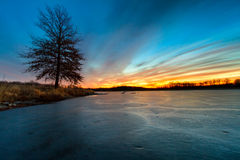 Lago congelado del invierno Fotos de archivo