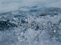 Lago congelado em Islândia Fotos de Stock Royalty Free