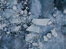 Lago congelado em Islândia Fotografia de Stock