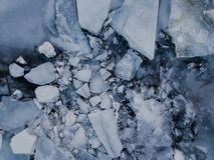 Lago congelado em Islândia Foto de Stock Royalty Free