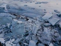 Lago congelado em Islândia Imagens de Stock