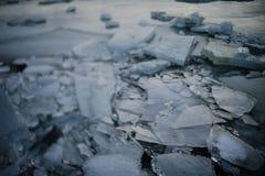 Lago congelado em Islândia Fotografia de Stock Royalty Free