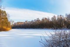 Lago congelado en Wiesmoor Imagen de archivo libre de regalías