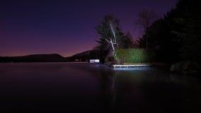 Lago congelado na noite Imagem de Stock Royalty Free