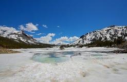 Lago congelado Tioga Imágenes de archivo libres de regalías