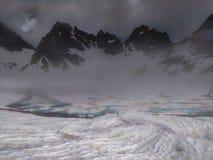 Lago congelado Tobavarchkhili Imagens de Stock Royalty Free