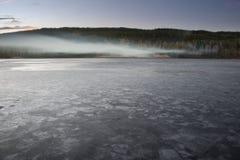 Lago congelato Fotografie Stock