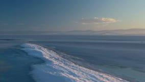 Lago congelato stock footage