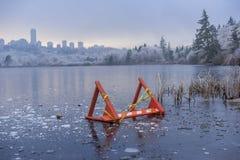 Lago congelato Fotografia Stock