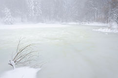 Lago congelato Immagini Stock