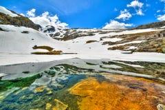 Lago congelato in Geilo Norvegia Fotografia Stock Libera da Diritti