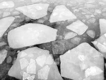 Lago congelato qinghai del lago Fotografia Stock