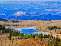 Lago congelato sulla grande MESA Immagini Stock Libere da Diritti