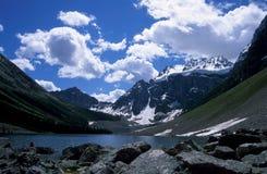 Lago consolation, Montagne Rocciose canadesi Fotografia Stock