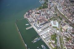 Lago Constance Aerial View Imagenes de archivo