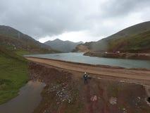 Lago Cordigliera nelle Ande del Perù immagine stock
