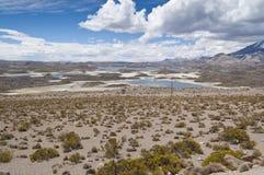 Lago Cotacotani Foto de archivo libre de regalías