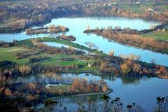 Lago countryside Fotos de Stock Royalty Free