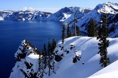 Lago crater de la punta del descubrimiento Foto de archivo libre de regalías
