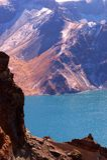 Lago crater della montagna di Changbai Fotografie Stock