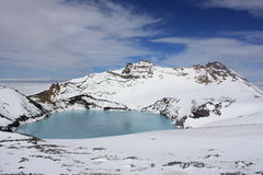 Lago crater di Mt. Ruapehu Fotografia Stock