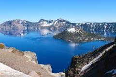 Lago crater nell'Oregon del sud fotografie stock libere da diritti